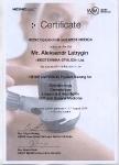 Сертификат об обучении специалистов нашей компании в августе 2014 года